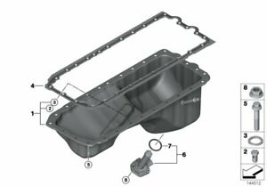 BMW Genuine Oil Pan Profile Gasket 11137548031