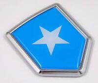 Somalia flag Chrome Emblem Car Decal Sticker Bike crest badge