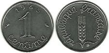 FRANCE FLORE EPI DE BLE EAR OF CORN CINQUIEME REPUBLIQUE ARMOIRIE 1 CENTIME 1965