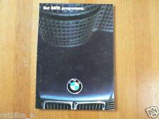 BMW PROGRAMMA 1986 BROCHURE FOLDER PROSPEKT