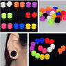 PAIR of DOUBLE FLARED FLAT SILICONE SPIRAL EAR PLUGS TUNNELS EAR GAUGES PIERCING