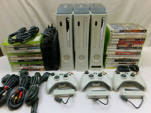 1 x ORIGINAL 20GB XBOX 360 CONSOLE PACKAGE + Wi-fI ADAPTER & 5 GAMES +FREE GAMES