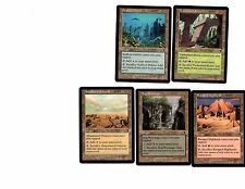 Odyssey  - NM -  1 of Each Common Combo Sac Land Set - 5 Cards - All 5