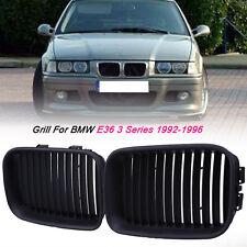 Matte Black Kidney Grilles Grill Fits 91-96 BMW 3 Series E36 328i 320i 325i M3