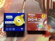 Memorex Ativa Lot DVD-RW DVD+R DL Discs NEW & Sealed