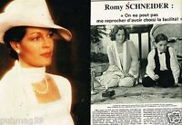 Coupure de Presse Clipping 1980 (2 pages) Romy Schneider
