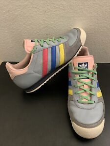 Adidas  All Odd 807015 Leather Suede Trainer Colorful 2005 Women Sz 5