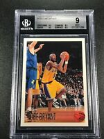 KOBE BRYANT 1996 TOPPS #138 ROOKIE CARD RC BGS 9 W/3 9.5 SUBGRADES LAKERS NBA