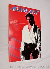 Adam Ant-Strip Tour-Universal Amphitheater Mini-Poster!  1984!  RARE!