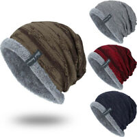 Men Women Knitted Baggy Beanie Winter Warm Hat Ski Causal Knit Cap Hat A+++ CA