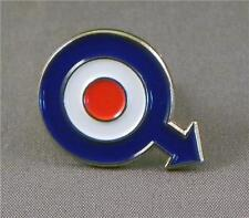 ROUNDEL - LAPEL PIN BADGE - SCOOTER SCOOTERISTS VESPA MODS LAMBRETTA (LK-45)