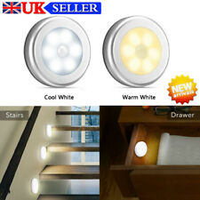 LED Motion Sensor Light PIR Wireless Night Cabinet Closet Stair Lamp White UK