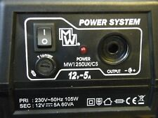 POWER SUPPLY REGULATED BENCH/DESKTOP INPUT 230V ~ 50Hz OUTPUT 12V-5A PS5000RS