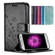 Handy Tasche Leder Flip Wallet Case Cover SchutzHülle Schale Silikon Bumper Etui