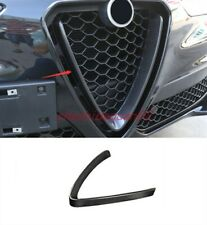Real Carbon Fiber Front middle grille decorative For Alfa Romeo Stelvio 17-2019