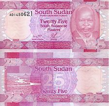 SOUTH SUDAN 25 Piasters banknotes World Paper Money UNC Currency Pick p-3 (2011)