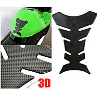 3D Motorcycle Carbon Fiber Gel Oil Gas Fuel Tank Pad Protector Sticker Decal Fit