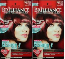 2 x SCHWARZKOPF BRILLIANCE PERMANENT HAIR COLOUR 75 SCARLET ROUGE 100% Brand New