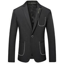 Mens Casual Dress Long sleeve One Button Business Blazer Jacket Leisure Korean L