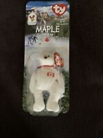 RETIRED AND RARE MAPLE THE BEAR TY BEANIE BABY MCDONALD'S NEW IN PACKAGE.