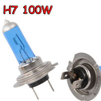 2Pcs H7 6000K Xenon Gas Halogen Headlight White Light Lamp Bulbs 100W 12V US
