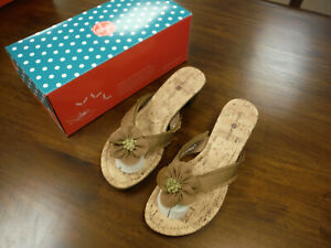 New Lindsay Phillips Switch Flops Ashley Sandals Size 9 CORK SwitchFlops
