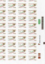 ITALIA-300 FRANCOBOLLI DA EURO 2,00( 6 FOGLI)- SOTTOFACCIALE