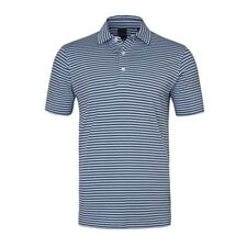New Dunning Golf Striped Polo Shirt Cinder Agate Blue Large L NWT