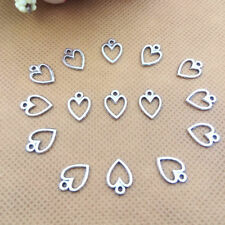Heart,Charm Silver Alloy Pendants,Jewelry Finding Making Diy Accessories,50pcs