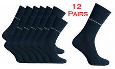 Pierre Cardin 12 Pairs Black Socks Formal Dress Work Casual Smart Men Suit Sock