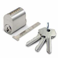 Swedish (Scandinavian) External Oval Cylinder ASSA Ruko Type Lock 3 Keys Satin