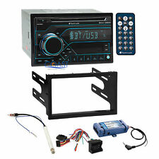 Planet Audio Cd Bluetooth Radio Dash Kit Amp Swc Harness for Golf Jetta Passat