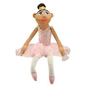 Melissa & and Doug 3895 BALLERINA Hand Puppet Pink Tutu Costume Ballet Princess