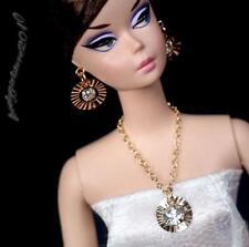 Rhinestonre Barbie doll jewelry necklace earrings for Barbie doll 845A