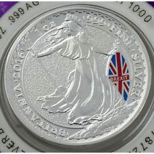 1 oz .999 silver Britannia coins: 1 2016 Brexit vote + 1 2017 Brexit Article 50.