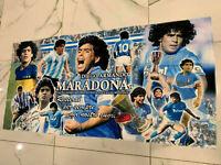 1 plaid celebrativo Maradona in pile leggero 140x68 cm el pibe de oro Napoli