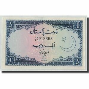 [#316004] Banknote, Pakistan, 1 Rupee, Undated (1964), KM:9a, UNC(63)