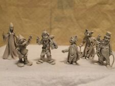 """Fontanini Pinocchio Lot of 6 Characters Rare Depose Italy Spider Mark Most 3.5"""""""