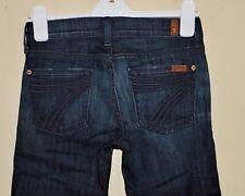 SEVEN FOR ALL MANKIND CROP DOJO Womens 25 Dark Denim Embroidered 7 Pocket Jeans