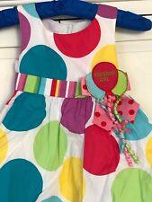 Bonnie Jean Birthday Girl Party Dress Tutu 2T Polka Dot Colorful