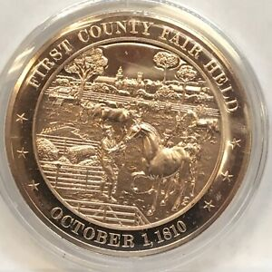 Franklin Mint American History series~1810 First County Fair Held