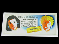 VINTAGE ORIGINAL Otis Shepard WRIGLEY`S JUICY FRUIT CHEWING GUM LITHOGRAPH 872-A
