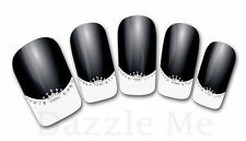 3D Nail Art Decals Transfer Stickers French Tip Design Glitter Crown (3D859)