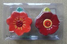 NEW-TAG-Flowers-Ceramic-Salt-And-Pepper-Shakers