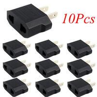 10pcs European Euro EU to US USA Plug Travel Charger Adapter Outlet Converter KY