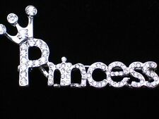BIRTHDAY PARTY WEDDING BRIDE CROWN PAGEANT WORD PRINCESS PIN BROOCH JEWELRY 2""