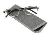 Foster Grant LYDEN Semi Rimless Men's Reading Glasses GUNMETAL 1.50 2.50 2.75