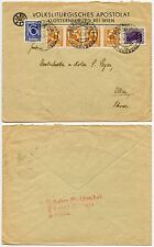 AUSTRIA 1933 FISH CAMEO ENVELOPE SPECIAL PMK SUN + AIR STRANDBAD KLOSTERNEUBURG