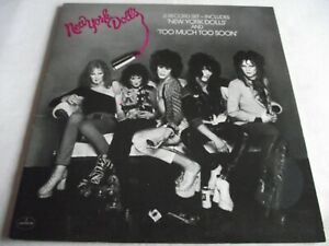 NEW YORK DOLLS ~ NEW YORK DOLLS & TOO MUCH TOO SOON ** Re-issue MERCURY DBL LP