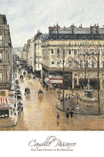 Rue Saint-Honoré in the Afternoon. Effect of Rain, 1897 - Camille Pissarro 16x24
